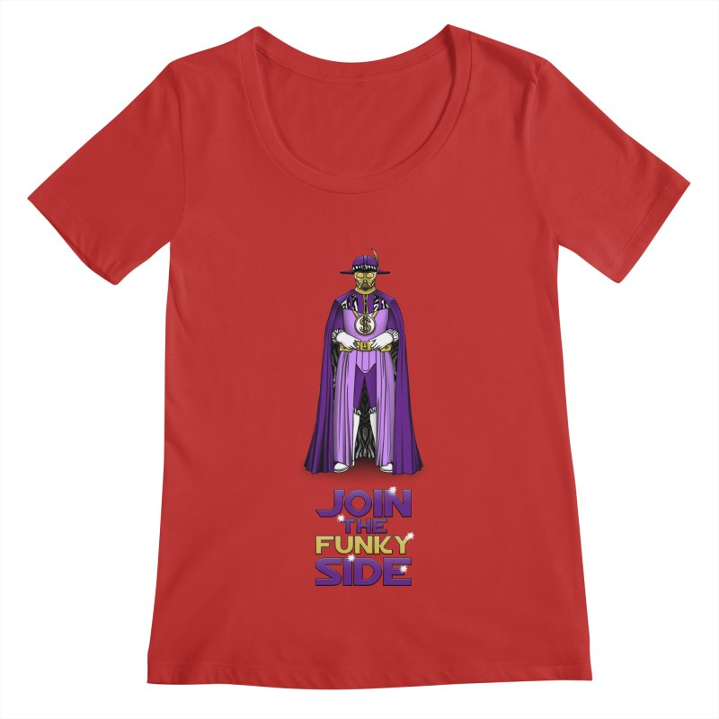 Join The Funky Side Women's Scoopneck by Tomas Teslik's Artist Shop
