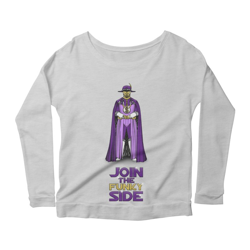 Join The Funky Side Women's Longsleeve Scoopneck  by Tomas Teslik's Artist Shop