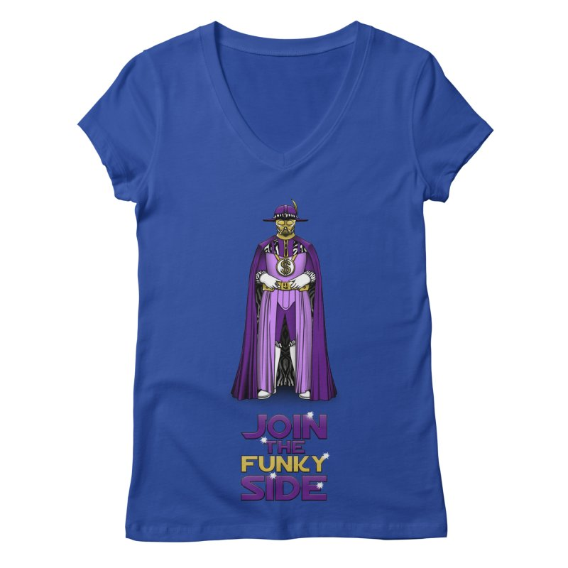 Join The Funky Side Women's V-Neck by Tomas Teslik's Artist Shop