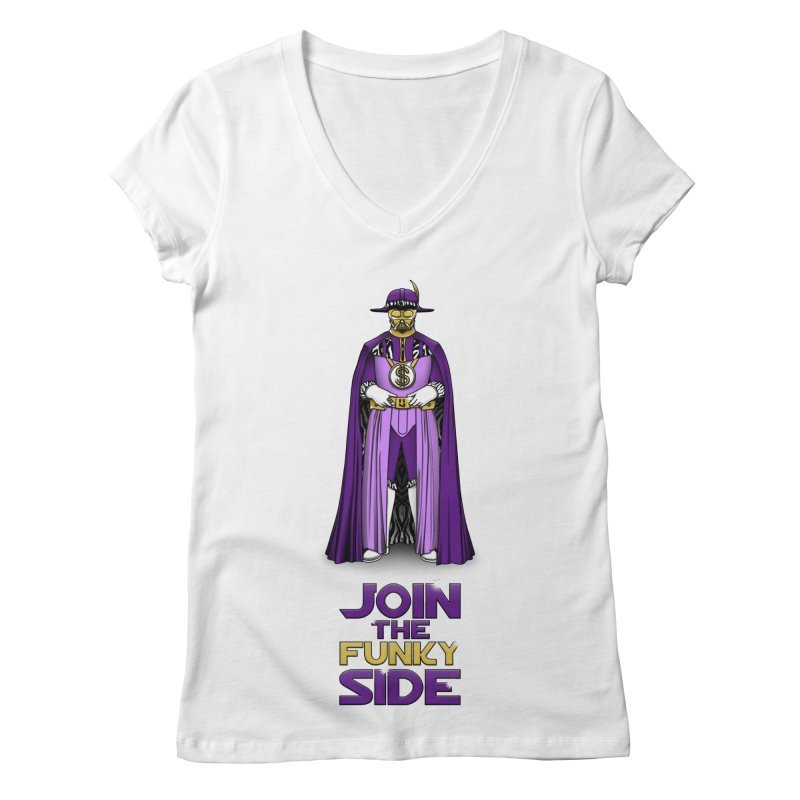 Join The Funky Side Women's V-Neck by Tomas Teslik's Artist Shop