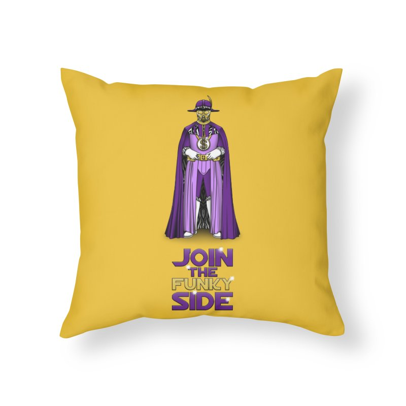 Join The Funky Side Home Throw Pillow by Tomas Teslik's Artist Shop