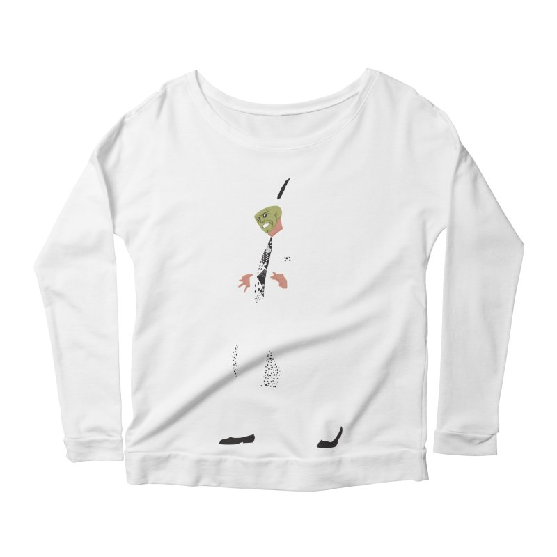 The Mask Women's Longsleeve Scoopneck  by Tomas Teslik's Artist Shop