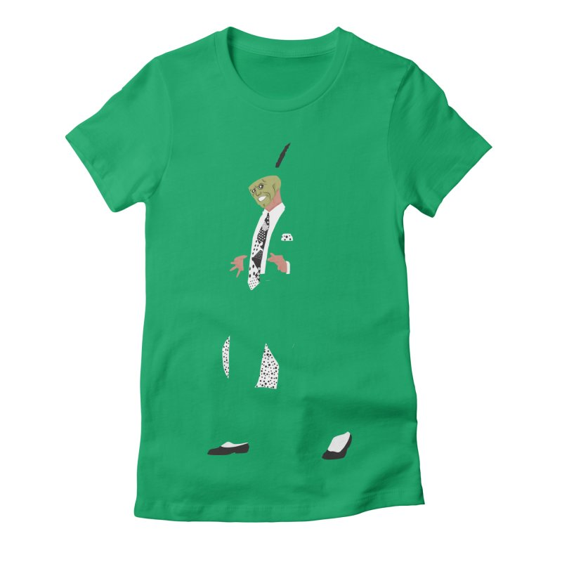The Mask Women's Fitted T-Shirt by Tomas Teslik's Artist Shop