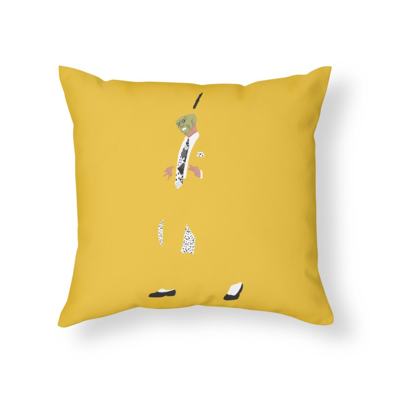 The Mask Home Throw Pillow by Tomas Teslik's Artist Shop