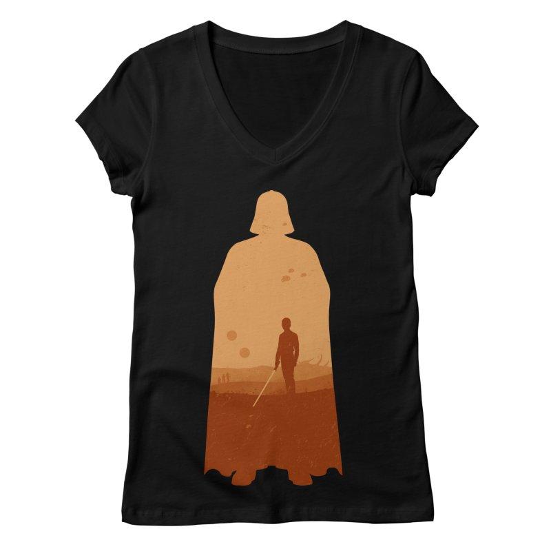 Vader Women's V-Neck by Tomas Teslik's Artist Shop