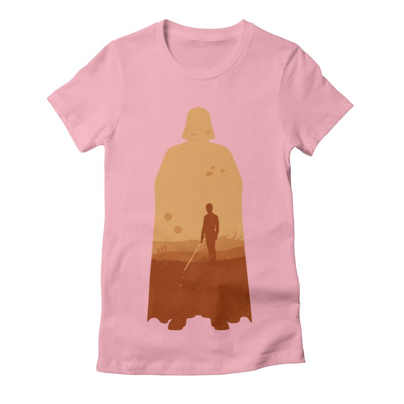 Vader Women's Fitted T-Shirt by Tomas Teslik's Artist Shop