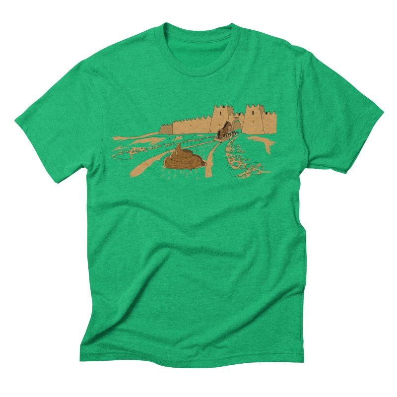 Troyan Horse Men's Triblend T-Shirt by Tomas Teslik's Artist Shop
