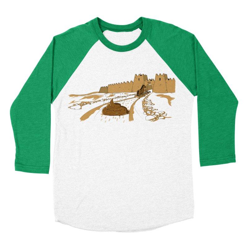 Troyan Horse Women's Baseball Triblend T-Shirt by Tomas Teslik's Artist Shop