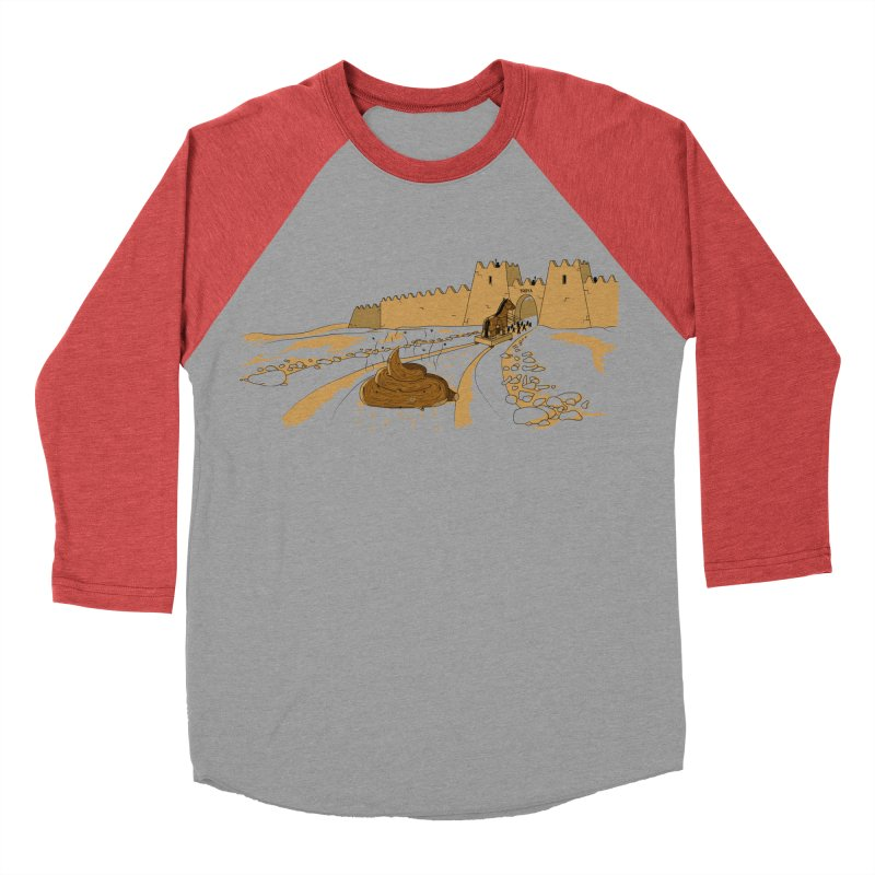 Troyan Horse Men's Baseball Triblend T-Shirt by Tomas Teslik's Artist Shop