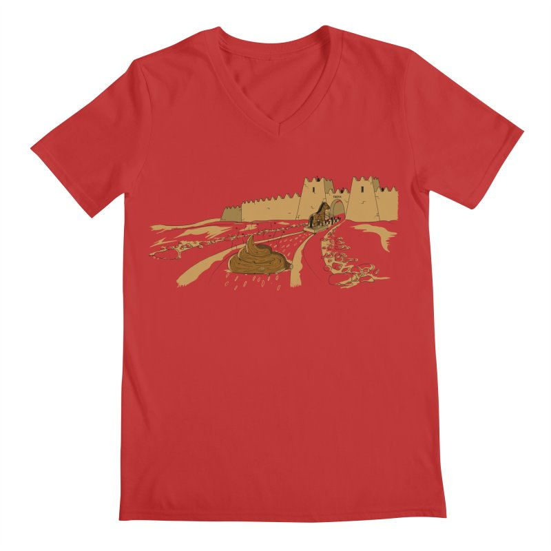 Troyan Horse Men's V-Neck by Tomas Teslik's Artist Shop