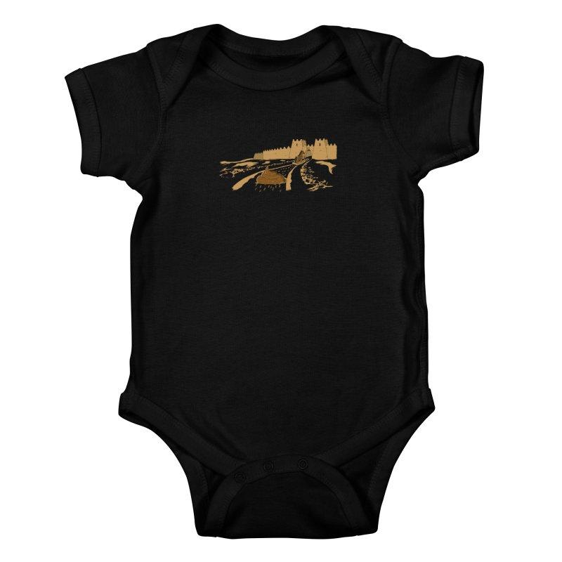 Troyan Horse Kids Baby Bodysuit by Tomas Teslik's Artist Shop