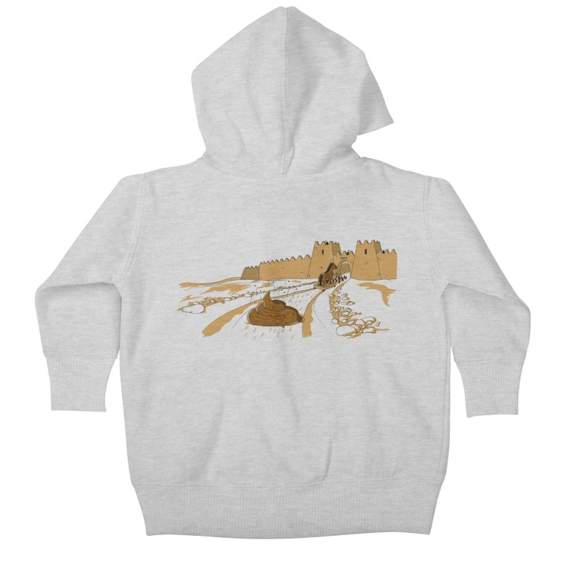 Troyan Horse Kids Baby Zip-Up Hoody by Tomas Teslik's Artist Shop