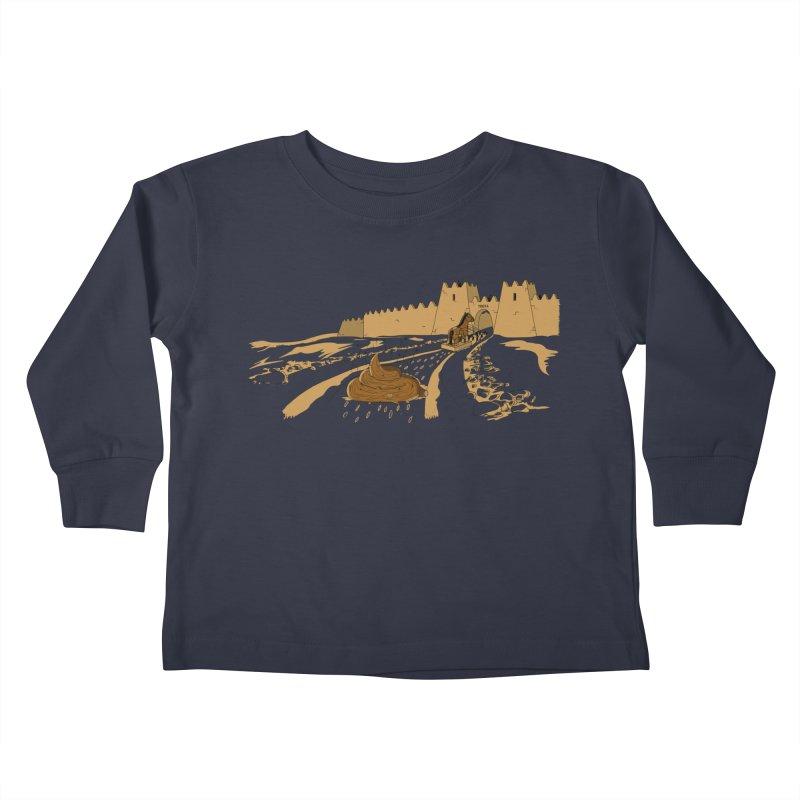 Troyan Horse Kids Toddler Longsleeve T-Shirt by Tomas Teslik's Artist Shop