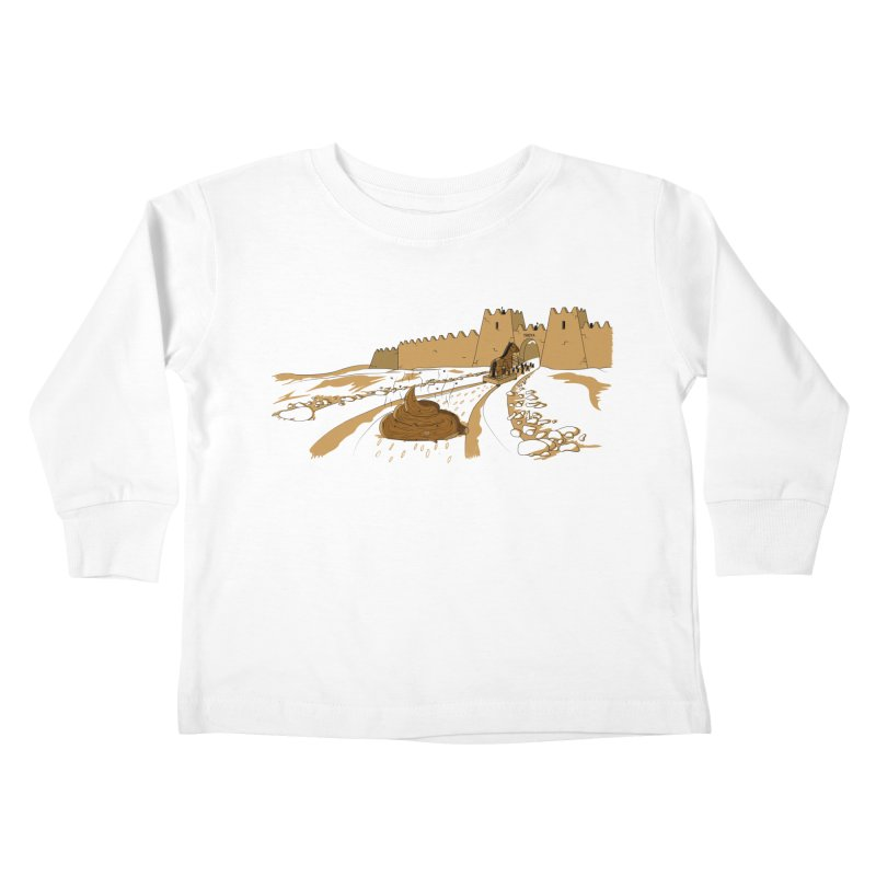 Troyan Horse Kids Toddler Longsleeve T-Shirt by Tomas Teslik's Artist Shop