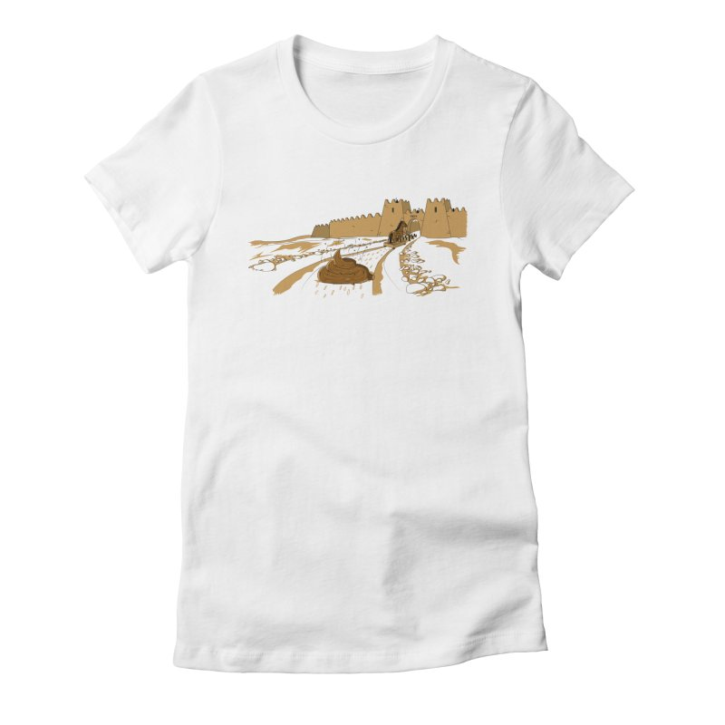 Troyan Horse Women's Fitted T-Shirt by Tomas Teslik's Artist Shop