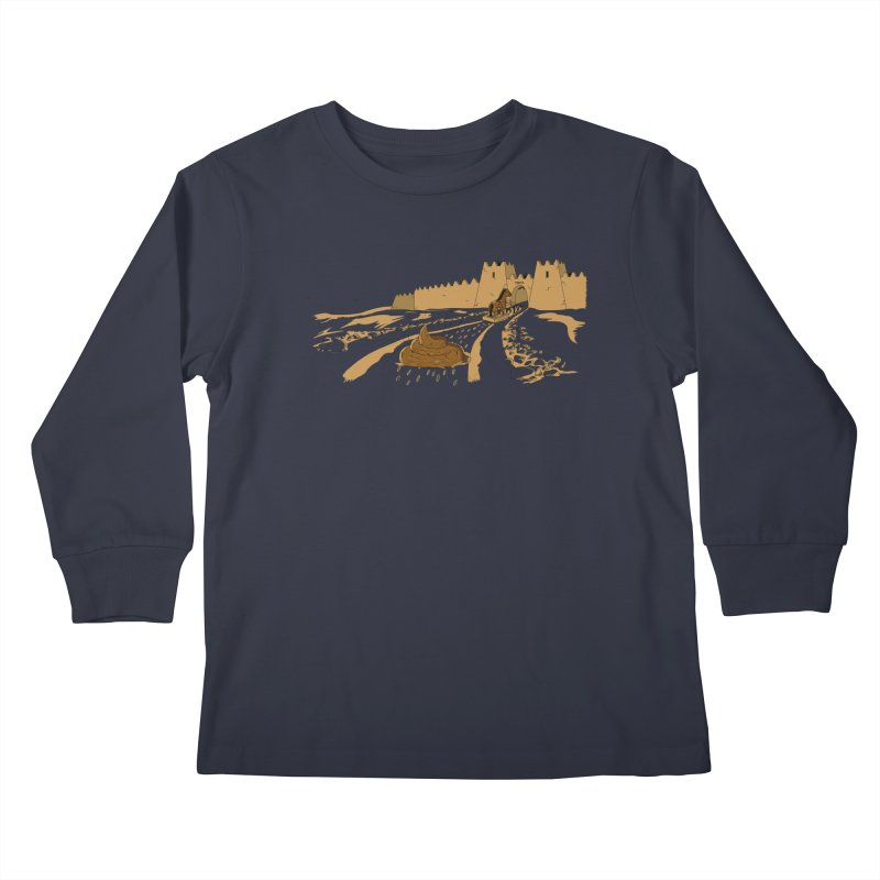 Troyan Horse Kids Longsleeve T-Shirt by Tomas Teslik's Artist Shop