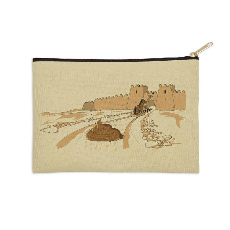 Troyan Horse Accessories Zip Pouch by Tomas Teslik's Artist Shop