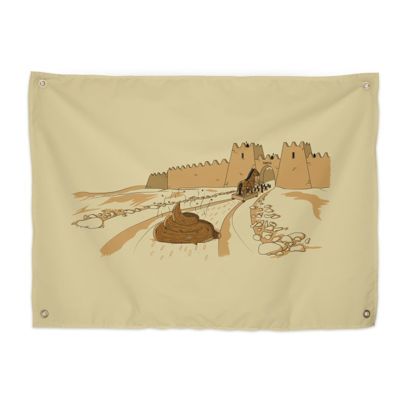 Troyan Horse Home Tapestry by Tomas Teslik's Artist Shop