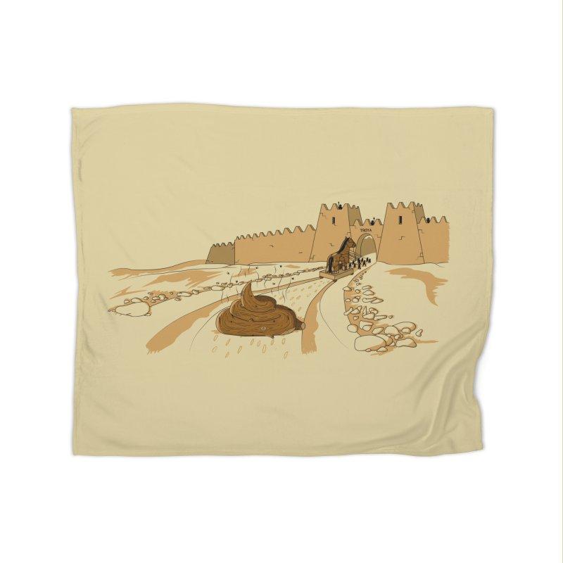 Troyan Horse Home Blanket by Tomas Teslik's Artist Shop