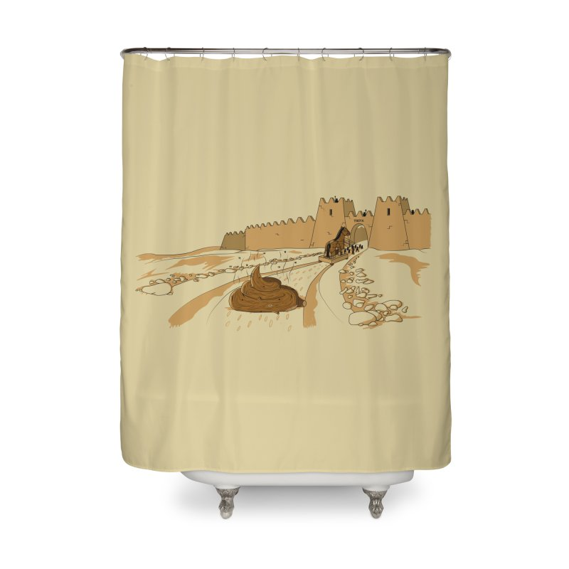 Troyan Horse Home Shower Curtain by Tomas Teslik's Artist Shop