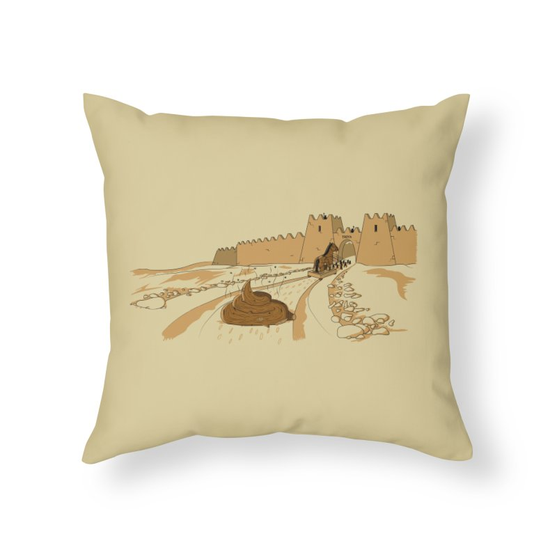 Troyan Horse Home Throw Pillow by Tomas Teslik's Artist Shop