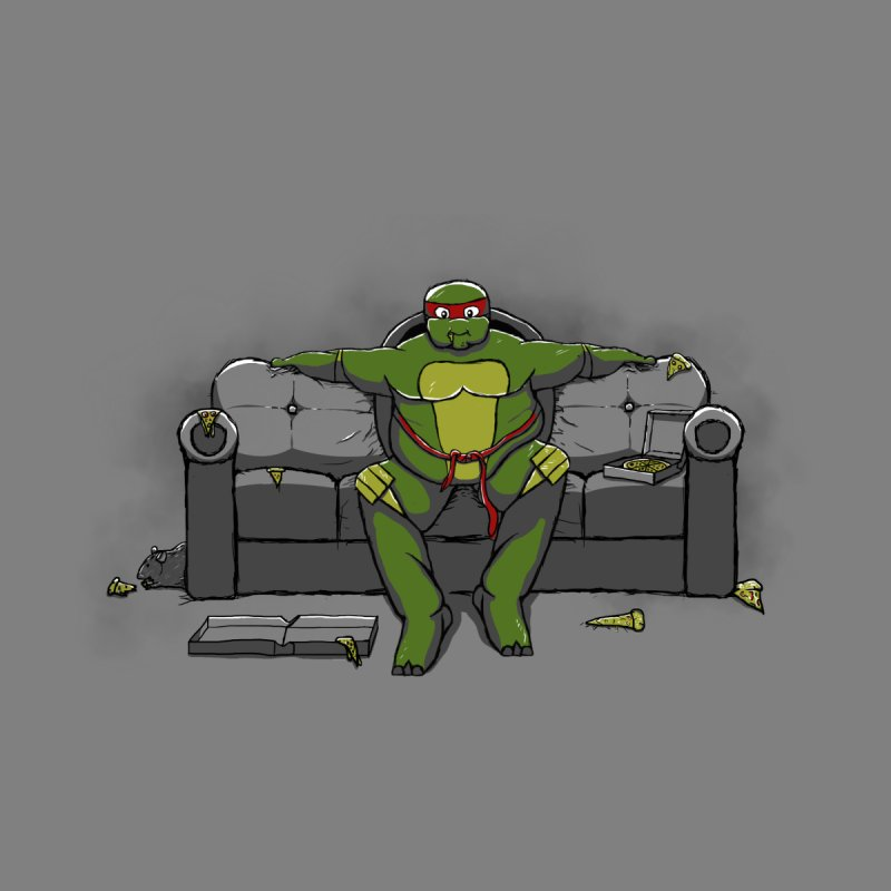 Ninja Fat Turtle by Tomas Teslik's Artist Shop