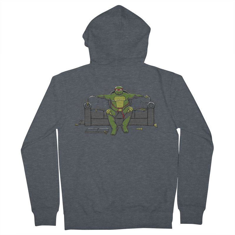 Ninja Fat Turtle Women's Zip-Up Hoody by Tomas Teslik's Artist Shop