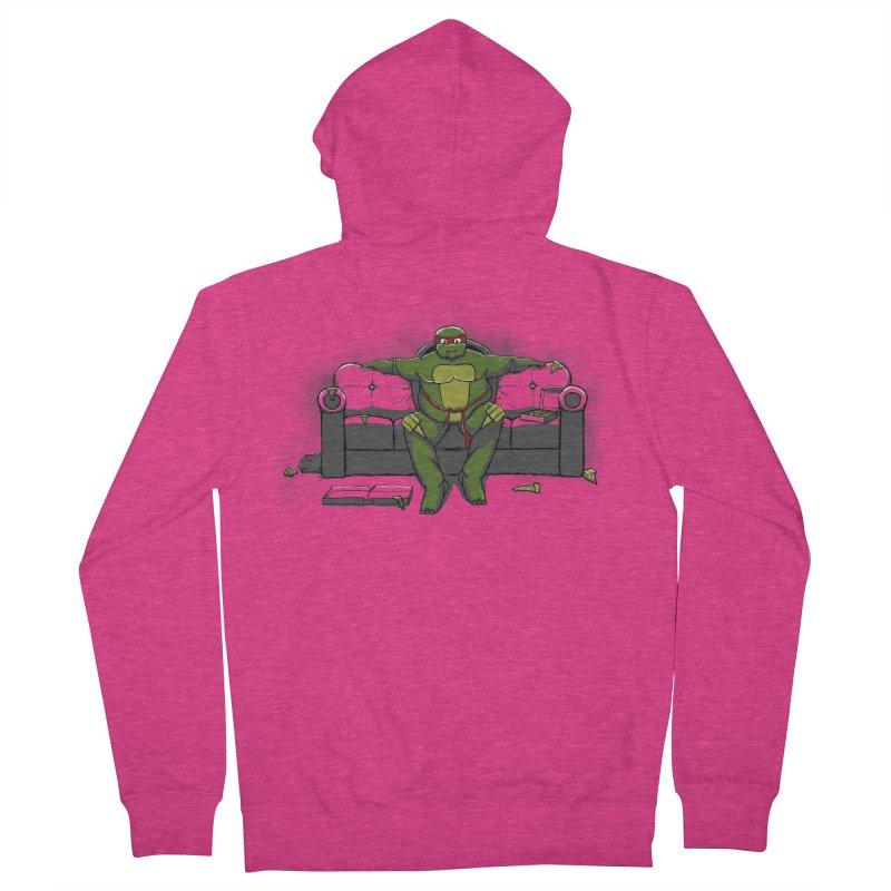 Ninja Fat Turtle Women's Zip-Up Hoody by Tomas Teslik's Artist Shop
