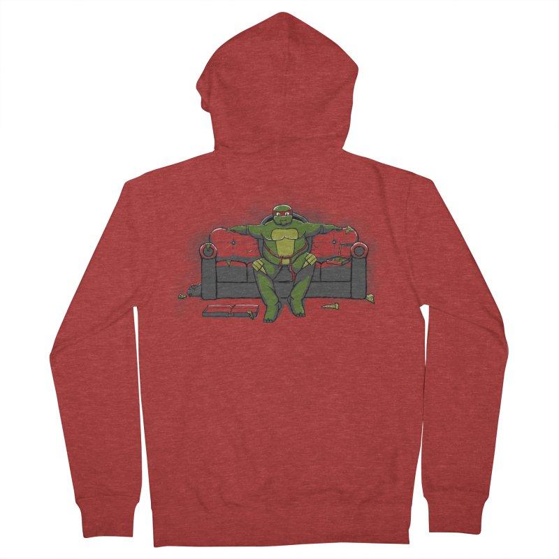Ninja Fat Turtle Men's Zip-Up Hoody by Tomas Teslik's Artist Shop