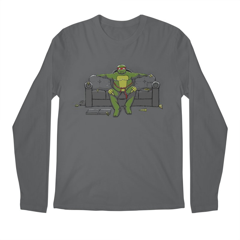 Ninja Fat Turtle Men's Longsleeve T-Shirt by Tomas Teslik's Artist Shop