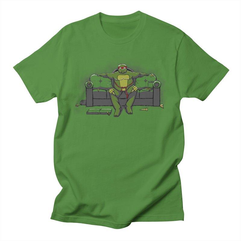 Ninja Fat Turtle Men's T-shirt by Tomas Teslik's Artist Shop