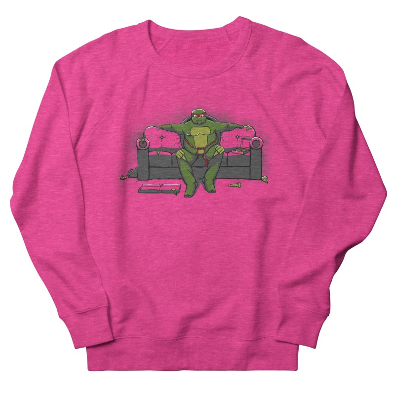 Ninja Fat Turtle Women's Sweatshirt by Tomas Teslik's Artist Shop