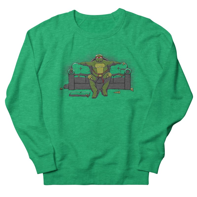 Ninja Fat Turtle Men's Sweatshirt by Tomas Teslik's Artist Shop