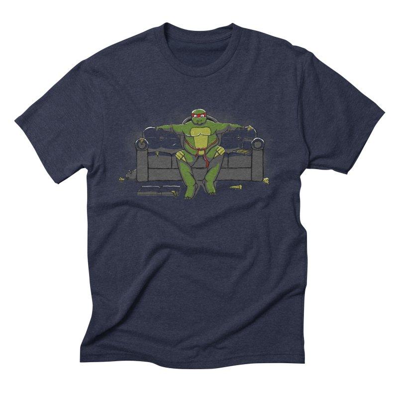 Ninja Fat Turtle Men's Triblend T-Shirt by Tomas Teslik's Artist Shop