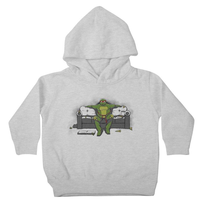 Ninja Fat Turtle Kids Toddler Pullover Hoody by Tomas Teslik's Artist Shop