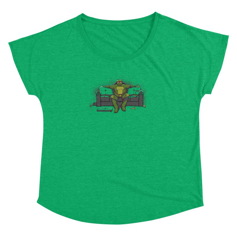 Ninja Fat Turtle Women's Dolman by Tomas Teslik's Artist Shop