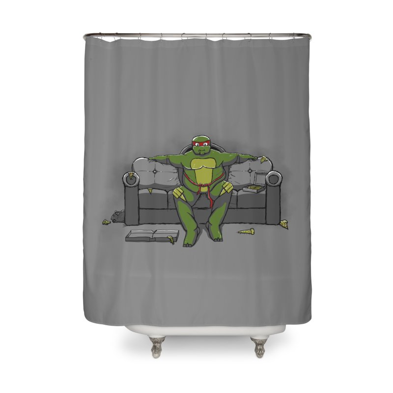 Ninja Fat Turtle Home Shower Curtain by Tomas Teslik's Artist Shop
