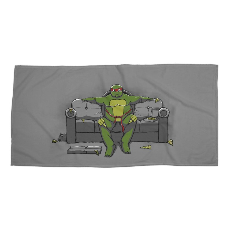 Ninja Fat Turtle Accessories Beach Towel by Tomas Teslik's Artist Shop