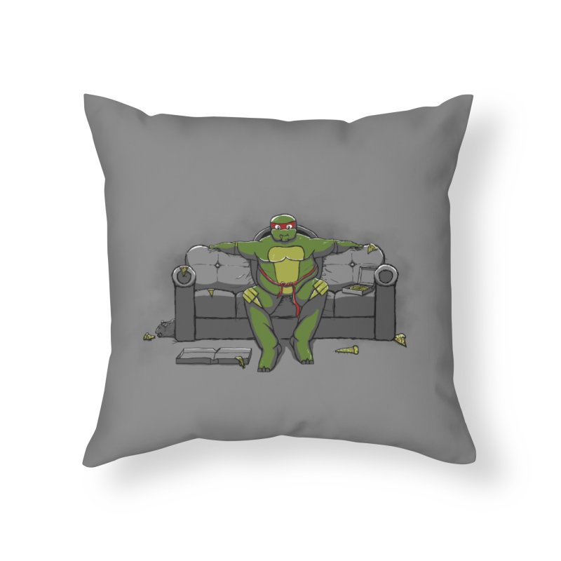 Ninja Fat Turtle Home Throw Pillow by Tomas Teslik's Artist Shop