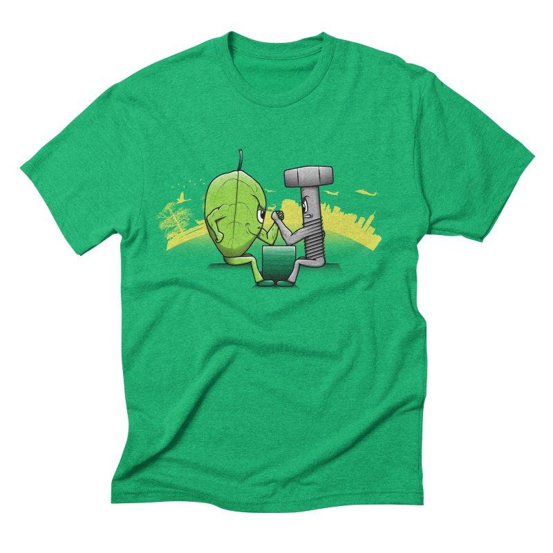 Nature vs Technique Men's Triblend T-shirt by Tomas Teslik's Artist Shop