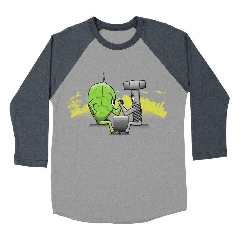 Nature vs Technique Men's Baseball Triblend T-Shirt by Tomas Teslik's Artist Shop