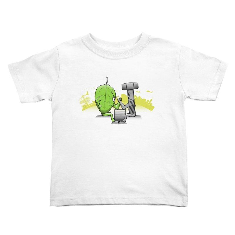 Nature vs Technique Kids Toddler T-Shirt by Tomas Teslik's Artist Shop