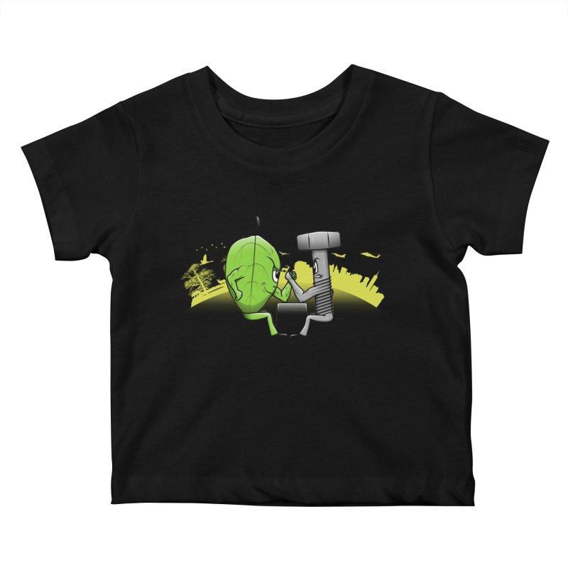 Nature vs Technique Kids Baby T-Shirt by Tomas Teslik's Artist Shop