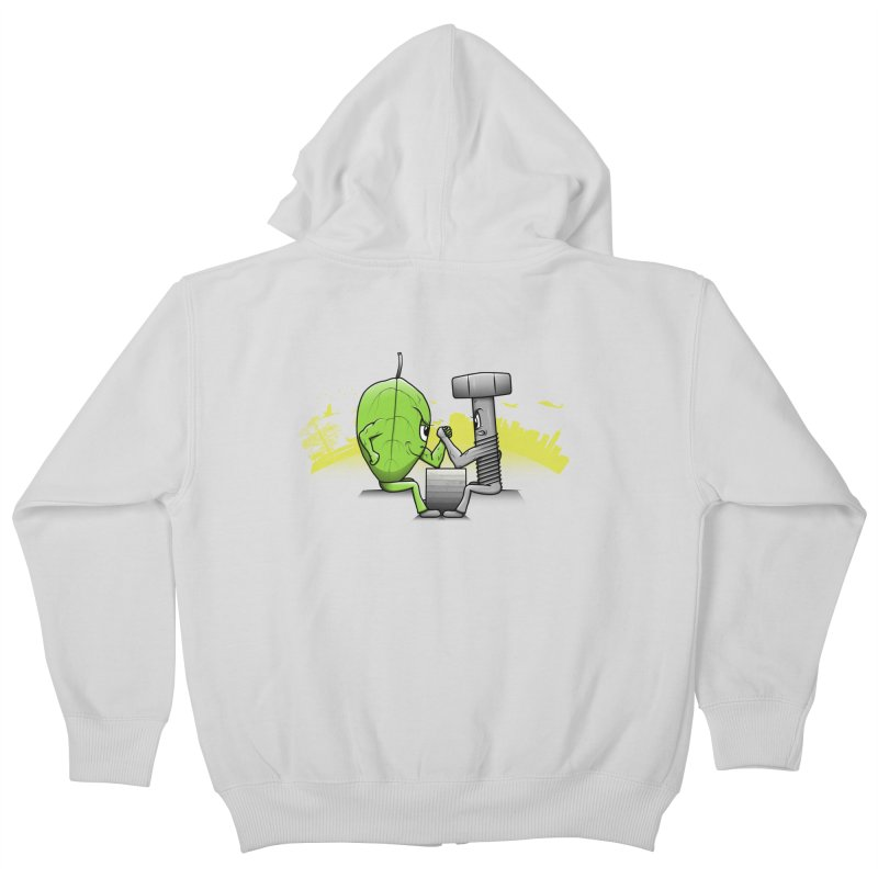 Nature vs Technique Kids Zip-Up Hoody by Tomas Teslik's Artist Shop