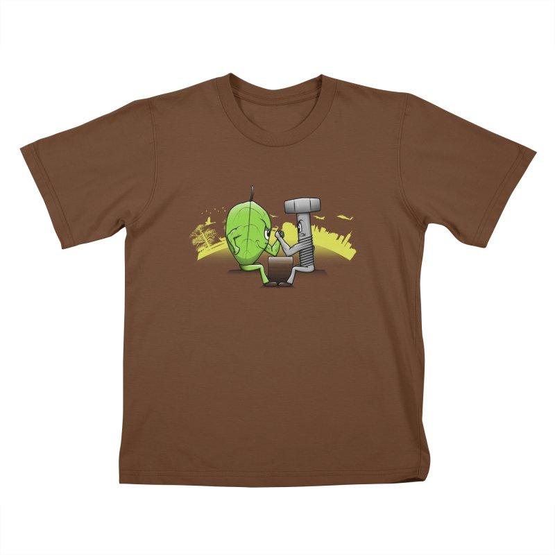 Nature vs Technique Kids T-shirt by Tomas Teslik's Artist Shop