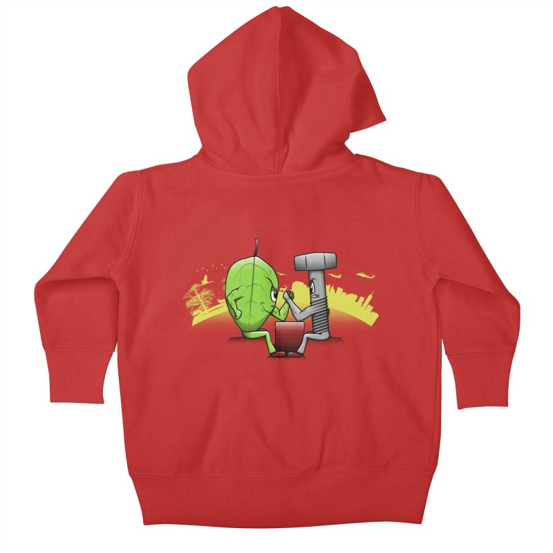 Nature vs Technique Kids Baby Zip-Up Hoody by Tomas Teslik's Artist Shop