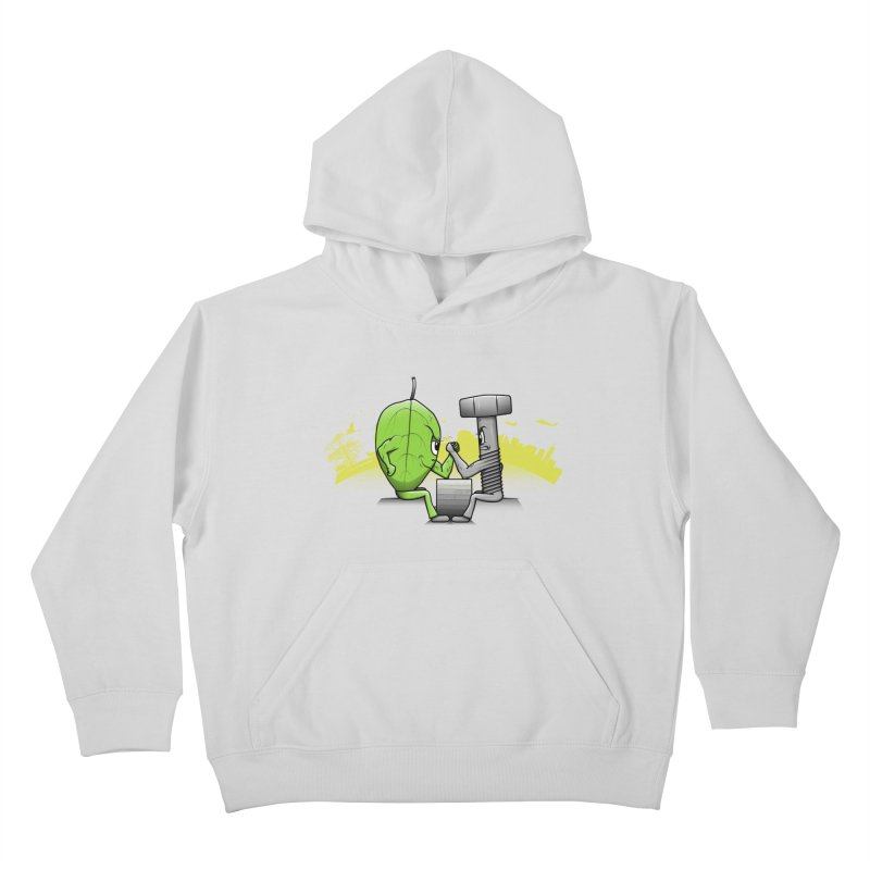 Nature vs Technique Kids Pullover Hoody by Tomas Teslik's Artist Shop