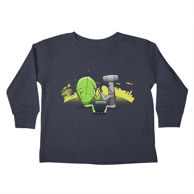 Nature vs Technique Kids Toddler Longsleeve T-Shirt by Tomas Teslik's Artist Shop