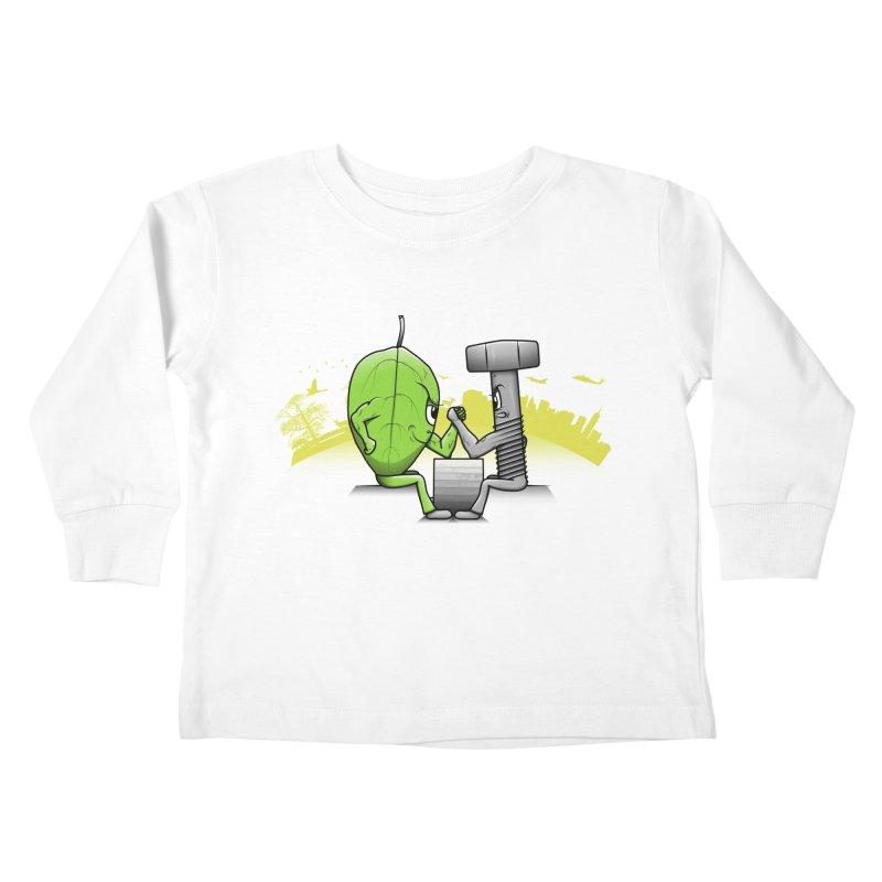 Nature vs Technique Kids Toddler Longsleeve T-Shirt by Tomas Teslik's Artist Shop