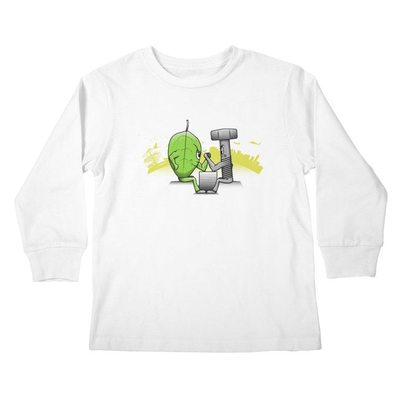 Nature vs Technique Kids Longsleeve T-Shirt by Tomas Teslik's Artist Shop